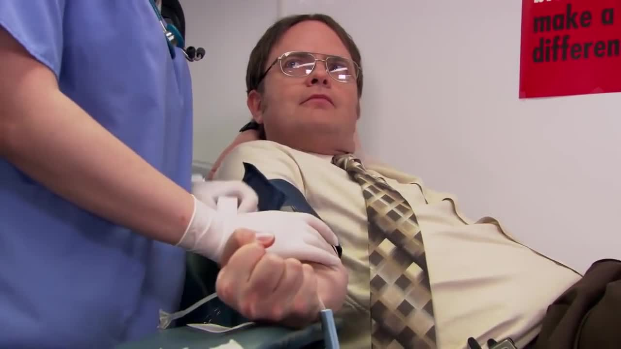 The Office: Donating blood
